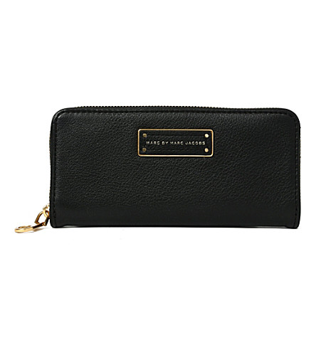 MARC BY MARC JACOBS Slim leather wallet (Black