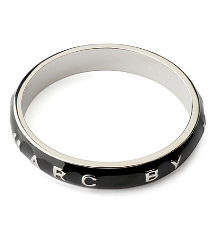 MARC BY MARC JACOBS Classic Logo band bangle (Black