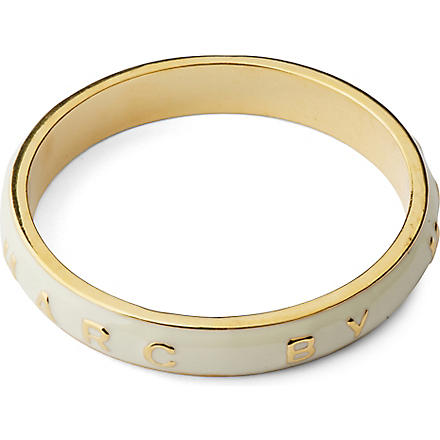 MARC BY MARC JACOBS Classic Logo band bangle (Cream