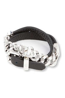 MARC BY MARC JACOBS Leather chain double-wrap bracelet