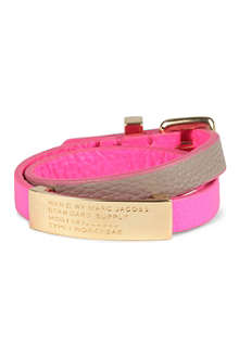 MARC BY MARC JACOBS Standard Supply ID double wrap bracelet