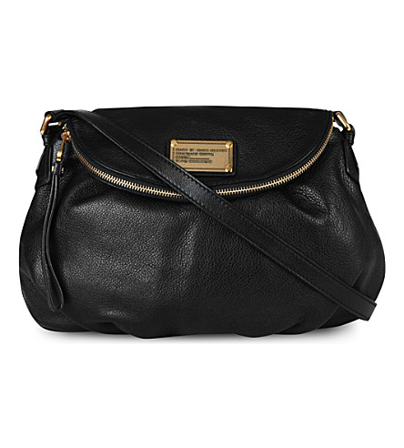 MARC BY MARC JACOBS Classic Q Natasha leather cross-body bag (Black