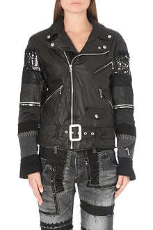 JUNYA WATANABE Patchwork sleeve leather jacket
