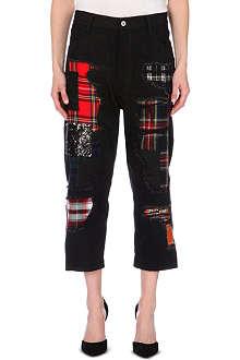 JUNYA WATANABE Patchwork boyfriend dropped-crotch jeans