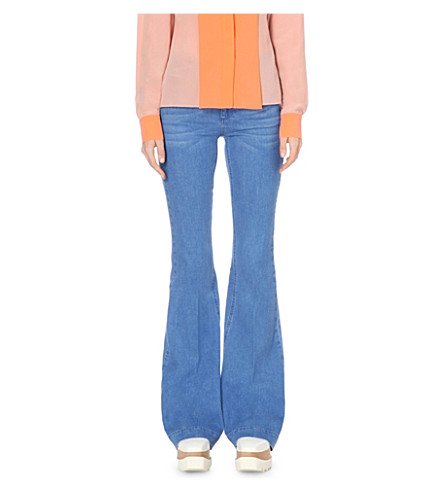 STELLA MCCARTNEY 70's Flare flared high-rise jeans (Ultra+blue