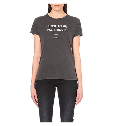 R13 Slogan-printed jersey t-shirt (Vintage black