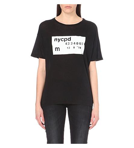 R13 Printed jersey t-shirt (Black