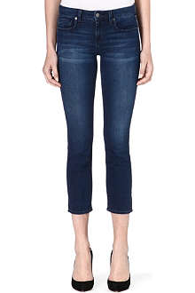 GENETIC DENIM Liam cropped straight-leg mid-rise jeans
