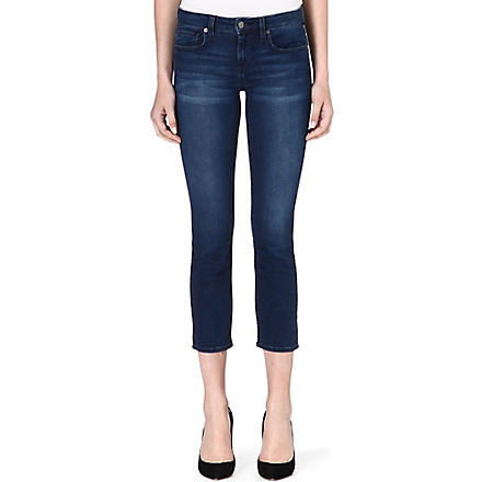 GENETIC DENIM Liam cropped straight-leg mid-rise jeans (Riot