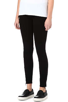 GENETIC DENIM The Delphine moto skinny mid-rise jeans