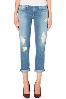 GENETIC DENIM Alexa skinny-fit straight cropped denim jeans