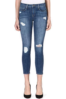 GENETIC DENIM Loren cropped skinny high-rise jeans
