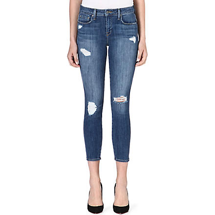 GENETIC DENIM Loren cropped skinny high-rise jeans (Destroy