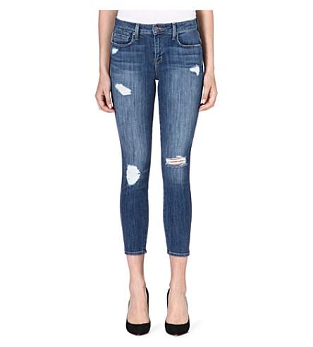 GENETIC DENIM Loren cropped skinny high-rise jeans (Destroy