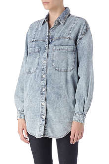 SOMEDAYS LOVIN Acid wash denim shirt