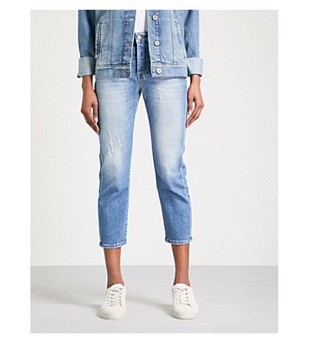 7 FOR ALL MANKIND Josefina boyfriend-fit straight cropped jeans (Daydream