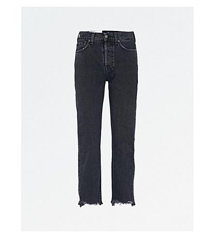 7 FOR ALL MANKIND Josefina boyfriend-fit straight cropped jeans (Ebony