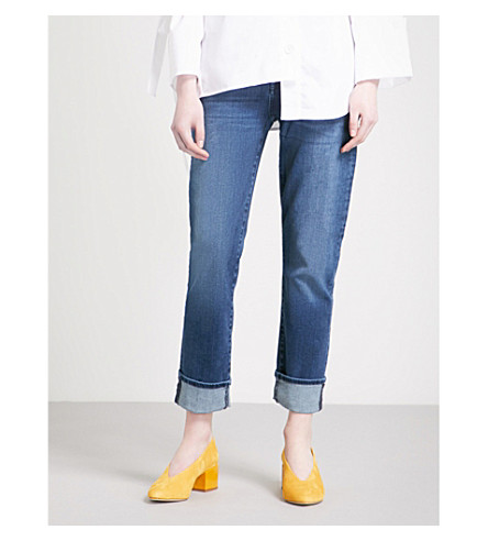 7 FOR ALL MANKIND Aubrey skinny high-rise jeans (Primary+blue