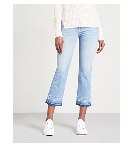 7 FOR ALL MANKIND Flared cropped high-rise jeans (Slim+illusion+breeze