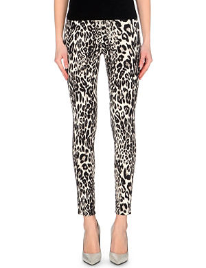 GIAMBATTISTA VALLI X 7 FOR ALL MANKIND Leopard-print skinny high-rise jeans