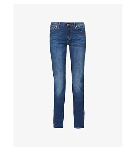 7 FOR ALL MANKIND Roxanne skinny mid-rise jeans (Bairduchess