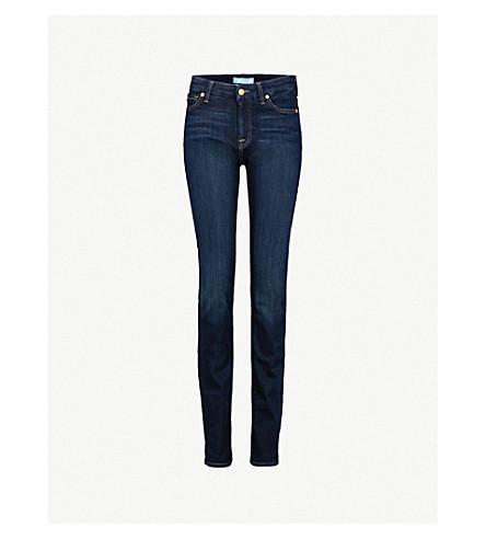 7 FOR ALL MANKIND Kimmie slim-fit straight-leg stretch-denim jeans (Bair+rinsed+indigo