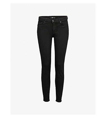 7 FOR ALL MANKIND The Skinny Crop slim-fit high-rise jeans (Slm+illus+luxe+rnsd+blk