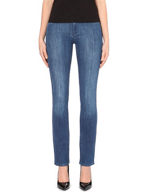 7 FOR ALL MANKIND Straight high-rise stretch-denim jeans