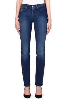 7 FOR ALL MANKIND High-rise straight leg jeans