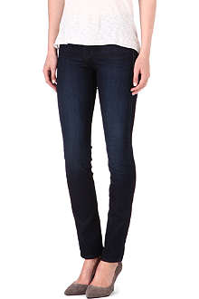 7 FOR ALL MANKIND Rozie honey-blue straight mid-rise jeans