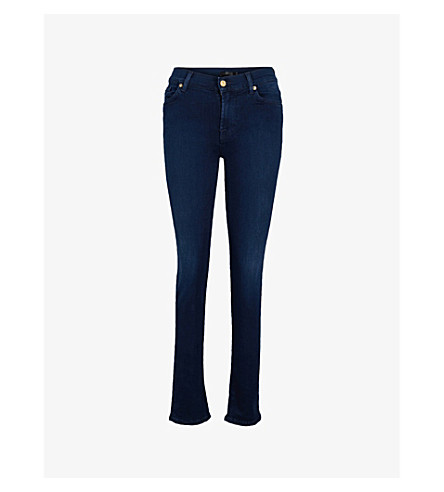 7 FOR ALL MANKIND Rozie 超薄高腰牛仔裤 (超薄 + 梦幻 + 豪华