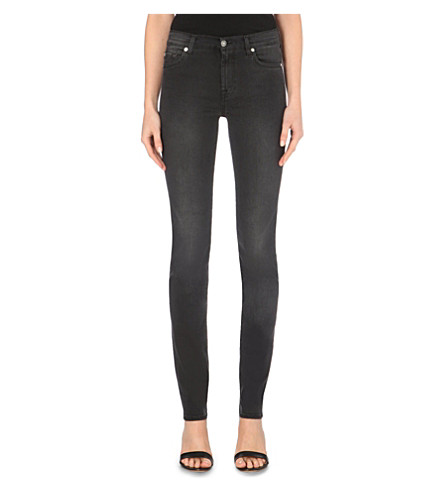 7 FOR ALL MANKIND Illusion skinny high-rise jeans (Luxe+rich+black