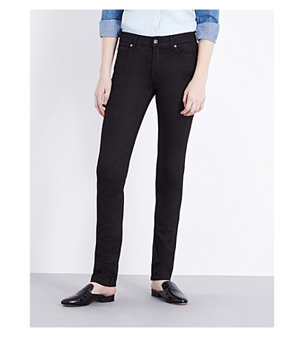 7 FOR ALL MANKIND Rozie super-skinny high-rise jeans (Portland+black