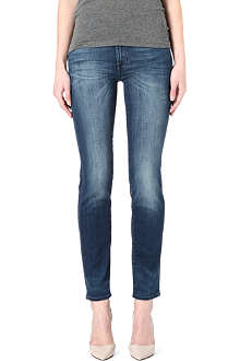 7 FOR ALL MANKIND Rozie slim straight-leg mid-rise jeans
