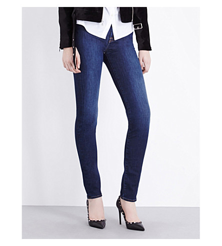 7 FOR ALL MANKIND Boston super-skinny high-rise jeans (Boston+blue