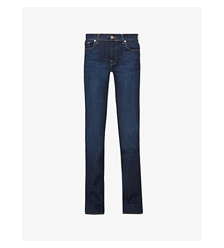 7 FOR ALL MANKIND Bair bootcut mid-rise jeans (Bair+rinsed+indigo