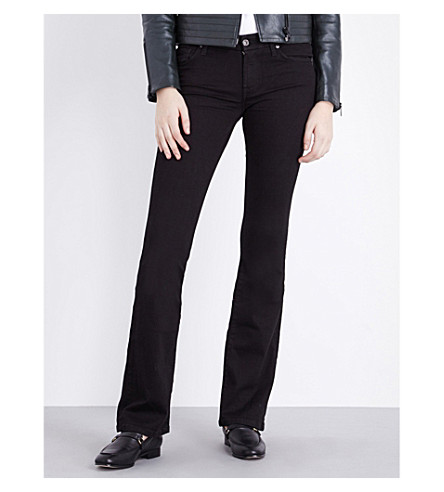 7 FOR ALL MANKIND Bootcut mid-rise jeans (Portland+black