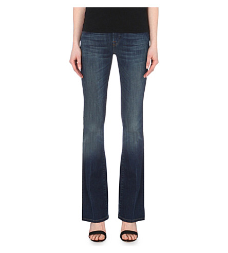7 FOR ALL MANKIND Bootcut mid-rise jeans (Brooklyn+dark