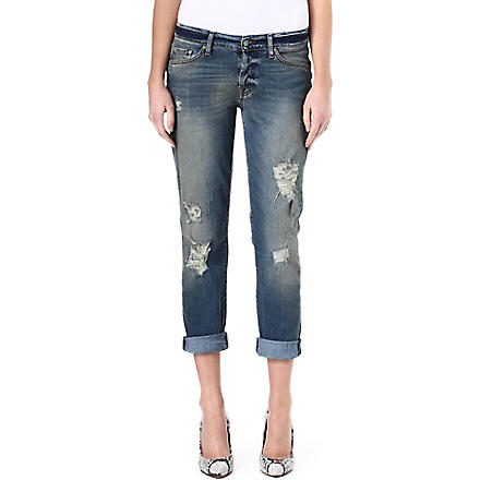 7 FOR ALL MANKIND Josefina boyfriend mid-rise jeans (Dstrdtiwi