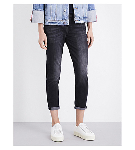 7 FOR ALL MANKIND Josefina boyfriend-fit straight cropped jeans (Slim+illusion