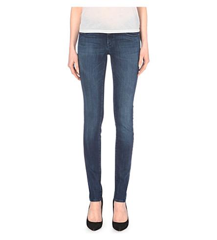 7 FOR ALL MANKIND Slim Illusion skinny mid-rise jeans (Malibu blue