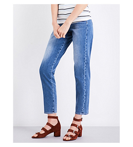 7 FOR ALL MANKIND Slim straight high-rise jeans (Vintage+mid