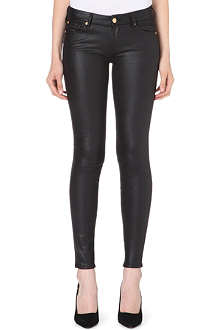 7 FOR ALL MANKIND Skinny mid-rise faux-leather jeans