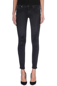 7 FOR ALL MANKIND Moto skinny mid-rise stretch-denim jeans