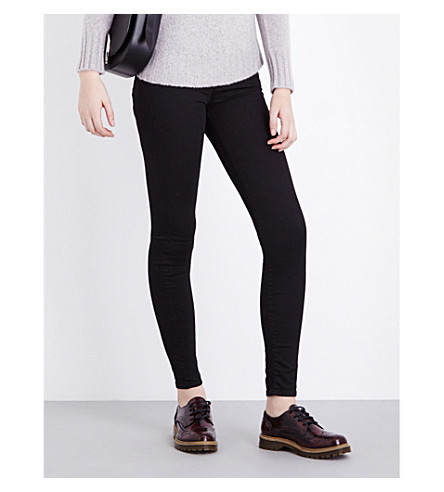 7 FOR ALL MANKIND The Skinny super-skinny mid-rise jeans (Phoenix+black