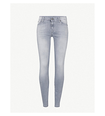 7 FOR ALL MANKIND The Skinny super-skinny mid-rise jeans (Slim+illusion+grey