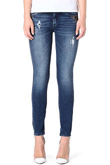 7 FOR ALL MANKIND Skinny mid-rise stretch-denim jeans