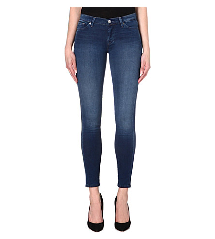 7 FOR ALL MANKIND The Skinny mid-rise jeans (Indigo