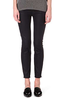 7 FOR ALL MANKIND The Side Zip coated skinny mid-rise jeans