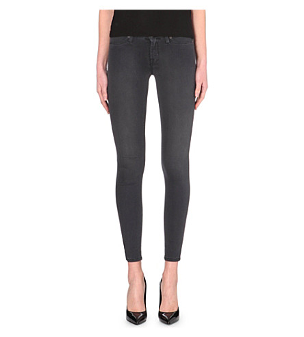 7 FOR ALL MANKIND Super-skinny jeans (Washed blk